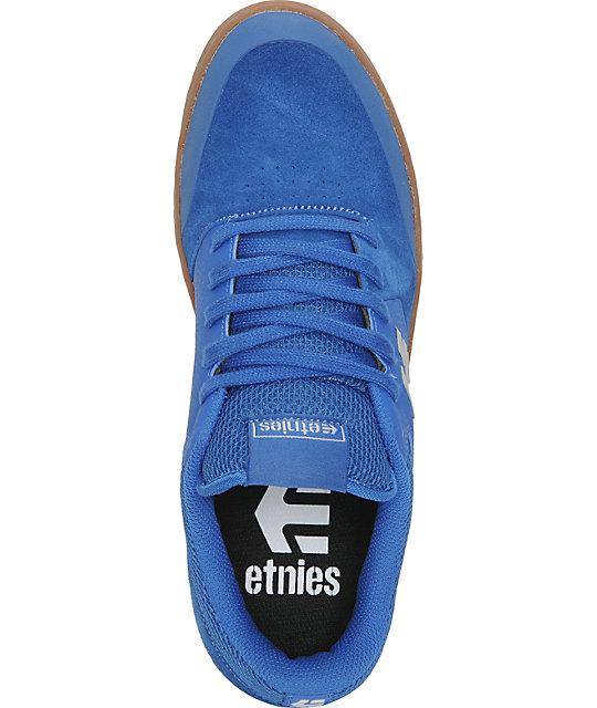 7bb85b944e37fa ... Etnies Marana Blue   Gum Suede Skate Shoes ...
