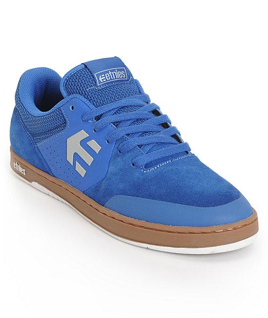923067538bb70a Etnies Marana Blue   Gum Suede Skate Shoes