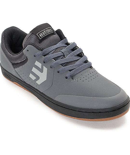 Etnies Marana Grey & Black Nubuck Skate Shoes ...