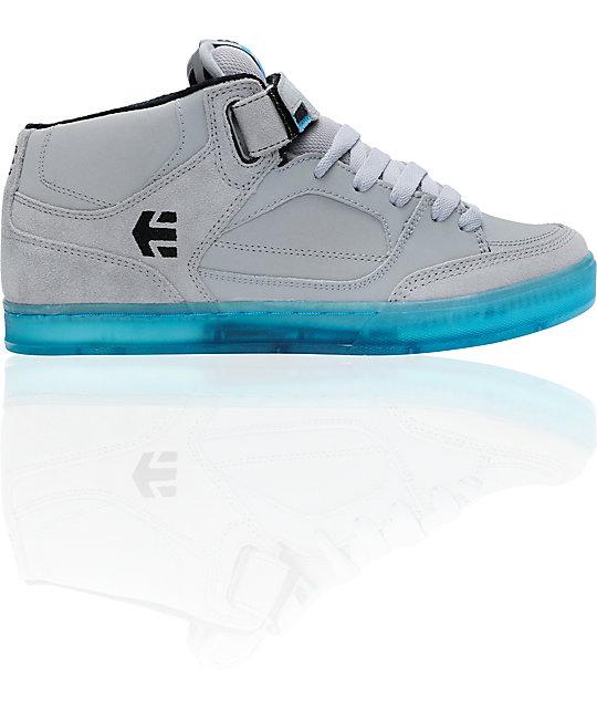 Etnies Number Grey & Blue Mid Skate Shoes ...