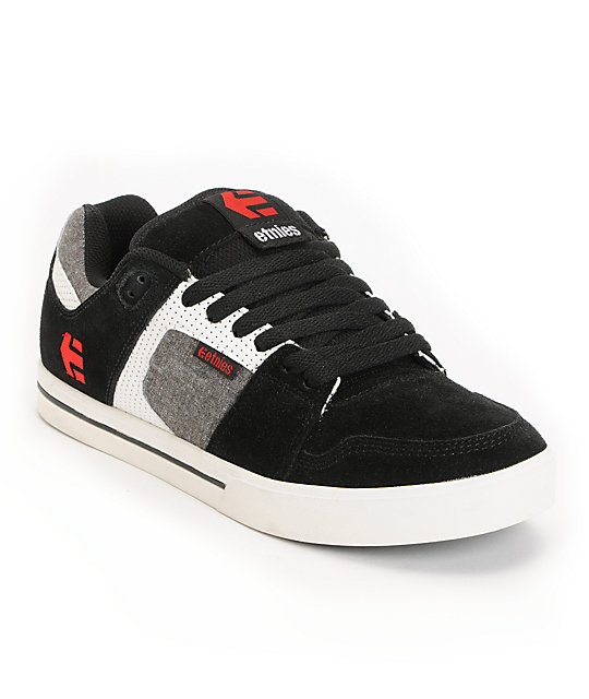 Etnies Rockfield Black, Grey & White Skate Shoes