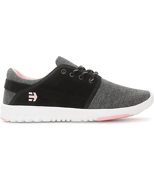 Etnies Scout Black, Grey & Pink Womens Shoes