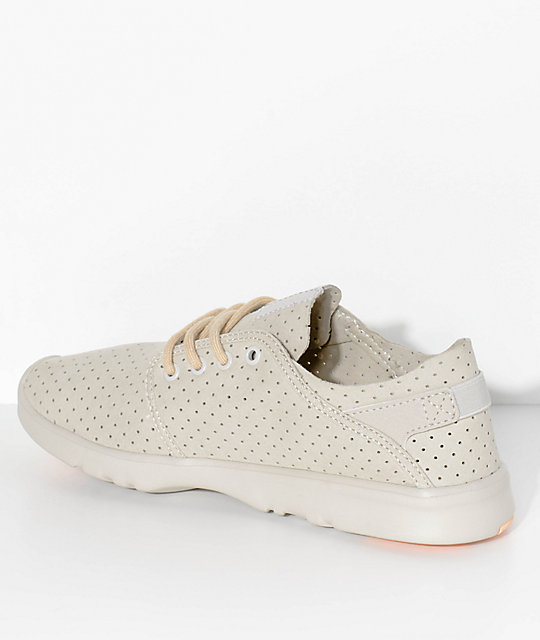 Etnies Scout Light Grey & Pink Micro Perforated Shoes