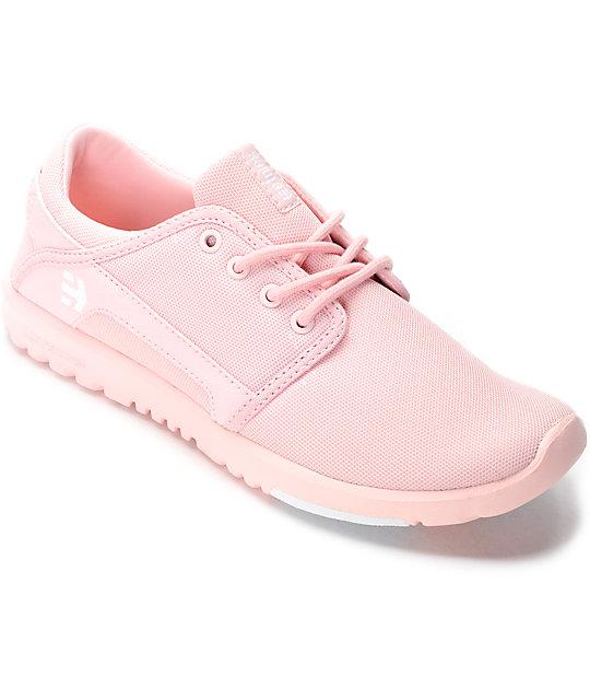 Etnies Scout Mono Pink Womens Shoes
