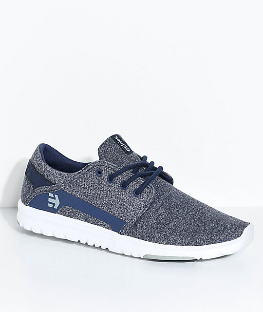 Etnies Scout Navy & Heather White Shoes