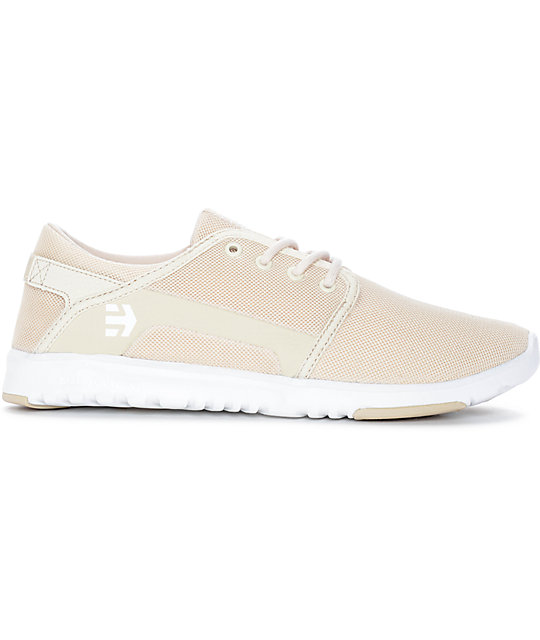Etnies Scout Tan & White Shoes