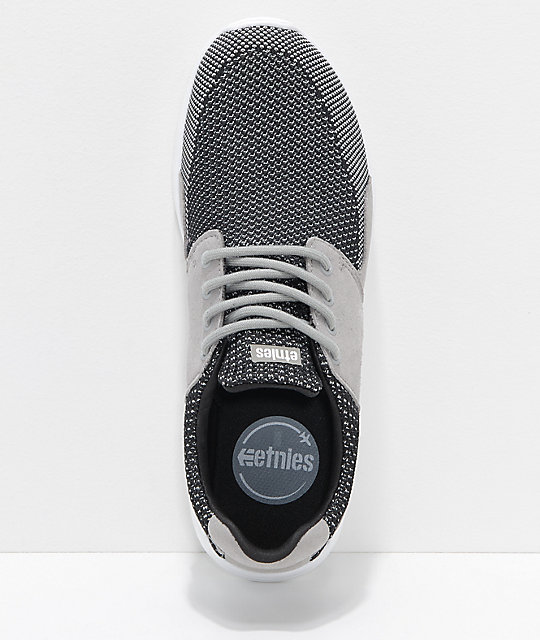 Etnies Scout XT Grey, Black & White Knit Shoes