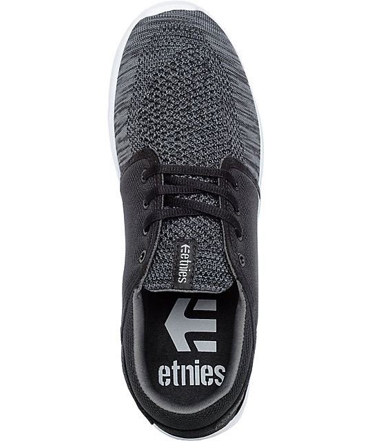 Etnies Scout Yarnbomb Black, Grey & White Shoes