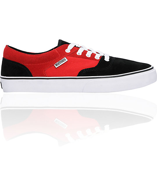 Etnies Taylor LS Black, Red & White Shoes