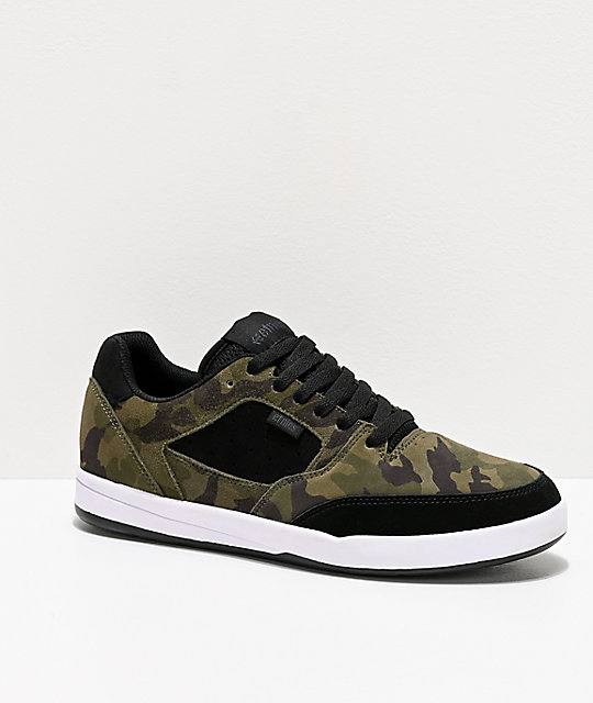 Etnies Veer Black & Camo Skate Shoes