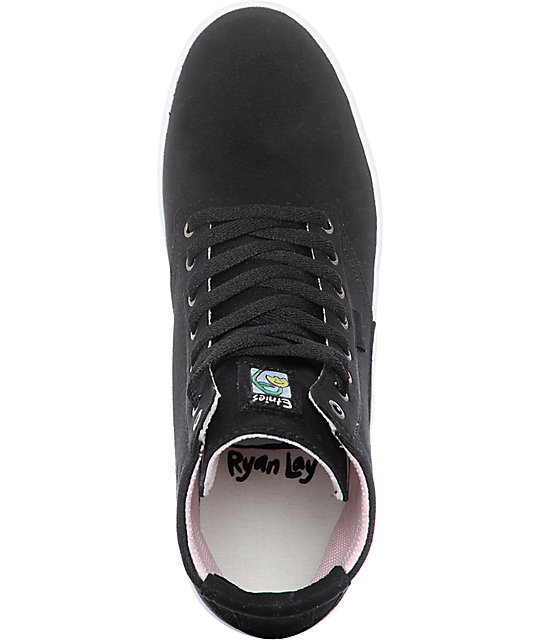 Etnies Vegan Jameson HT Black & White Skate Shoes