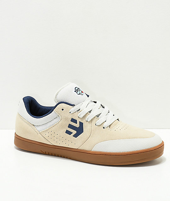 3a87fd2e83be18 Etnies x Happy Hour Marana Tancowny White   Gum Skate Shoes