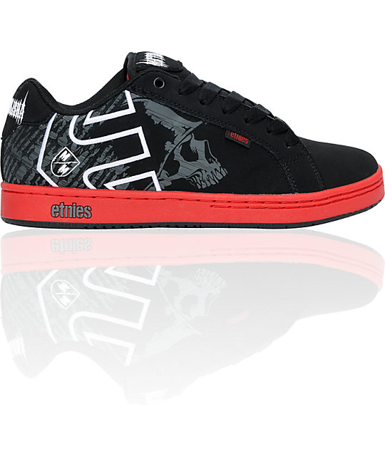 Etnies x Metal Mulisha Fader Black, Grey & White Shoes