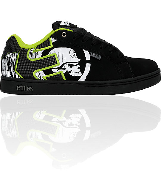 Etnies x Metal Mulisha Fader Black & Green Shoes