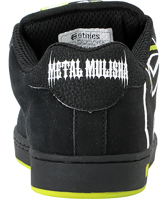 Etnies x Metal Mulisha Fader Black & Lime Skate Shoes