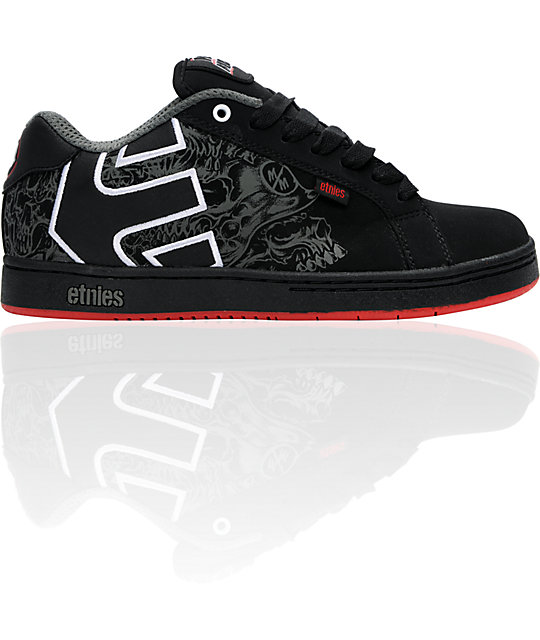 Etnies x Metal Mulisha Fader Black & Red Shoes ...