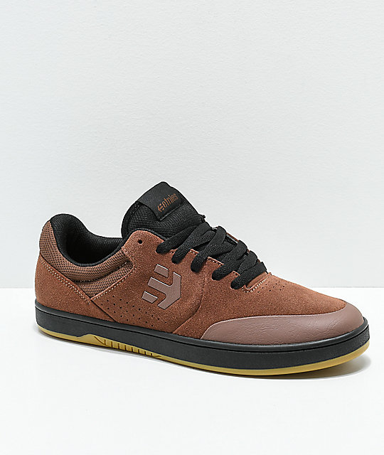 Etnies x Michelin Marana Brown, Black & Gum Skate Shoes