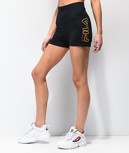 FILA Beatriz High Waist Black Bike Shorts