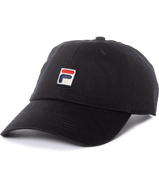 sprzedawca detaliczny tanio na sprzedaż butik wyprzedażowy FILA Black Baseball Hat