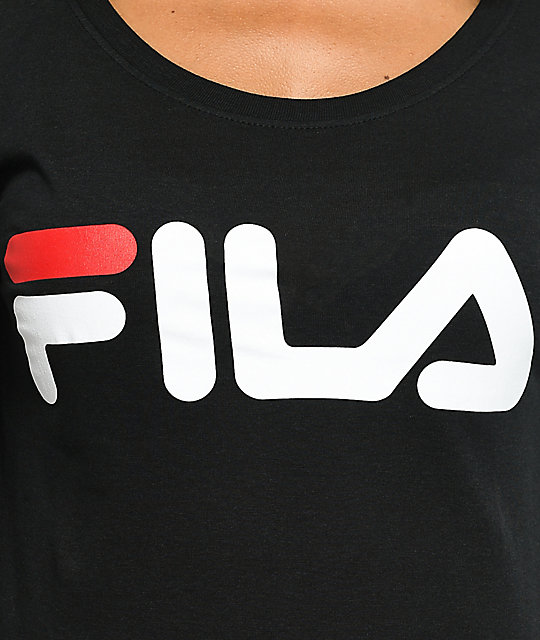 FILA Black Logo Long Sleeve T-Shirt