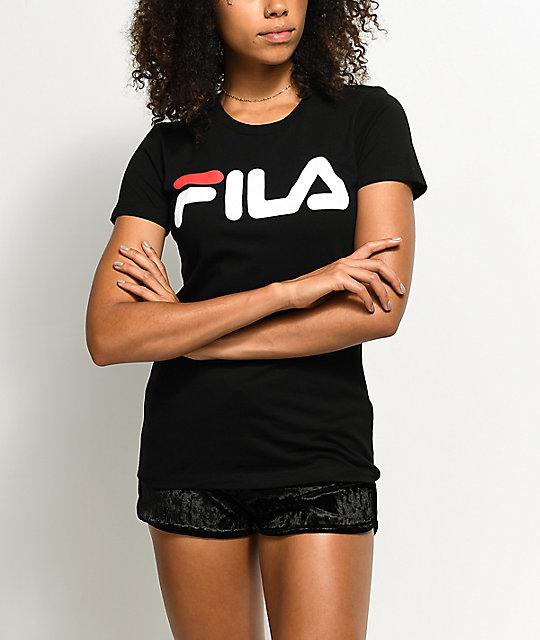 25ceac706 FILA Black Logo T-Shirt   Zumiez