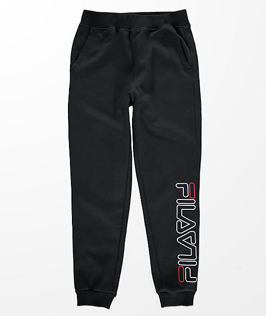 FILA Boys Logo Black Jogger Pants