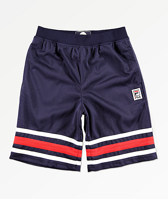 FILA Boys Logo Navy Mesh Shorts