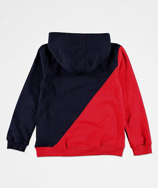 FILA Boys Original Fitness Red & Blue Hoodie