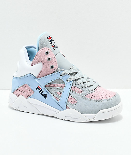 FILA Cage Suede Grey, Pink & Blue Shoes