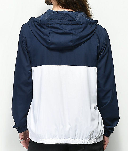 FILA Cipolla Navy & White Half Zip Jacket