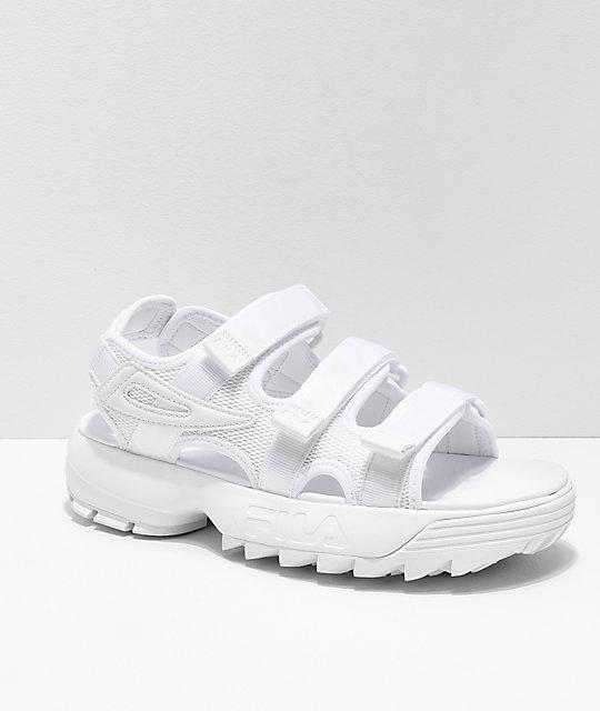 8b8d7cbdeb FILA Disruptor All White Sandal