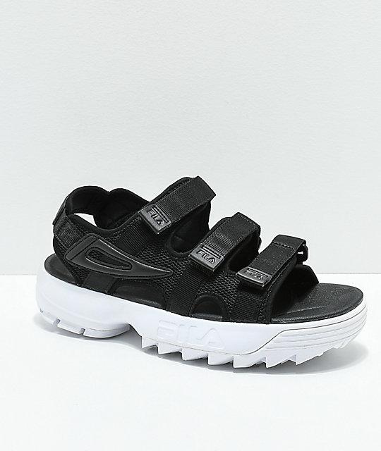FILA Disruptor Black Platform Sandal