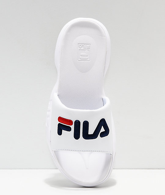 FILA Disruptor Bold White Slide Sandals