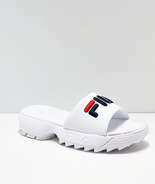 FILA Disruptor Bold sandalias blancas