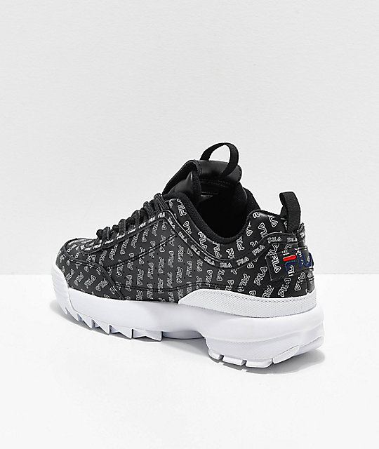 FILA Disruptor II All Over zapatos negros