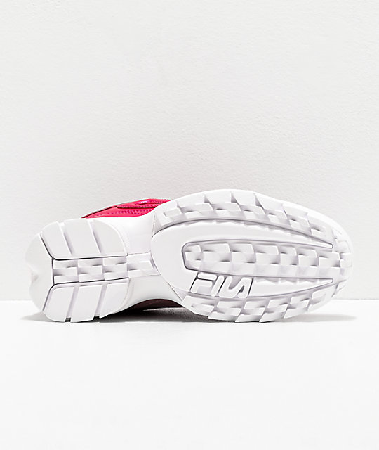 FILA Disruptor II Liquid Raspberry Shoes