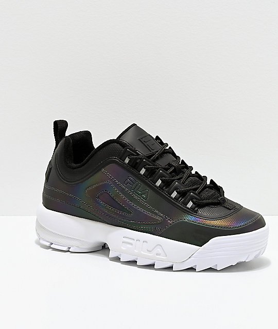 latest sale good texture popular design FILA Disruptor II Phase Shift Black Shoes