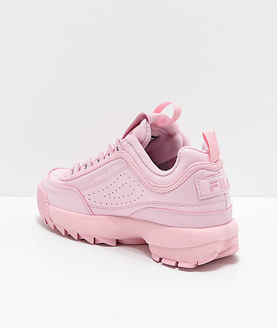 pink glossy fila shoes Shop Clothing