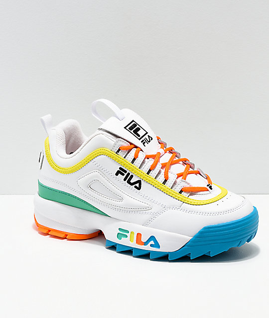 FILA Disruptor Multicolor & White Shoes