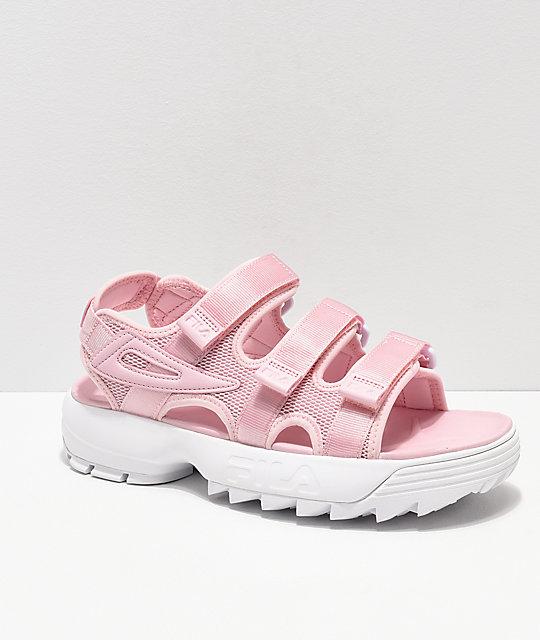 ae7c0cad4c19 FILA Disruptor Pink   White Sandal