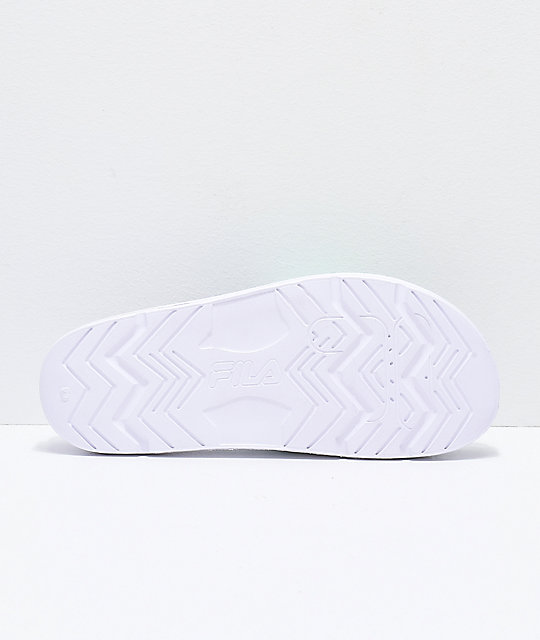 FILA Drifter Bold Green & White Slide Sandals