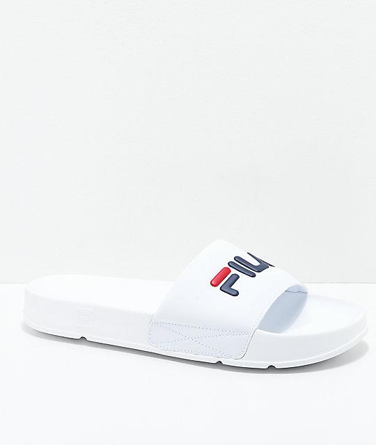 Slipper - white/navy Rabatt Visum Zahlung Spielraum Neue Ankunft h49pLo
