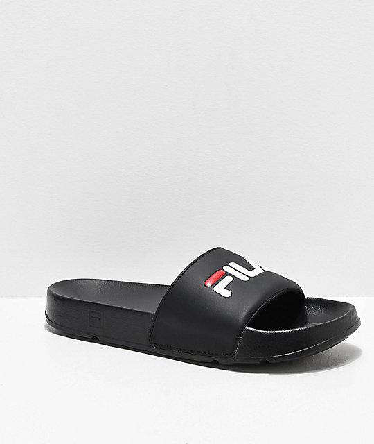 FILA Drifter sandalias en negro, rojo y blanco