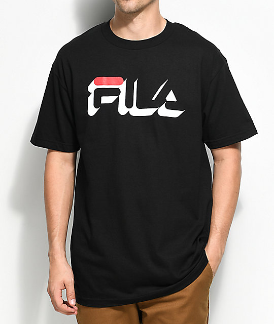 black fila t shirt
