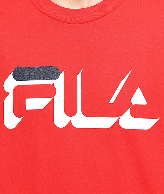 FILA Dropshadow Red T-Shirt