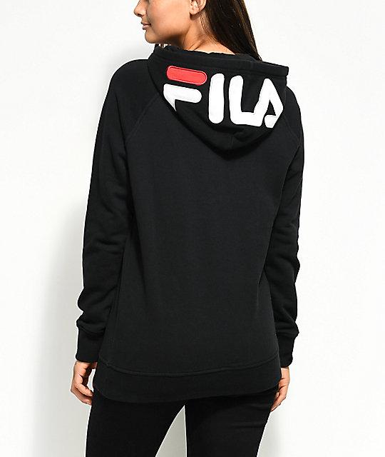 8f7065f3 FILA Embroidered Logo Black Hoodie