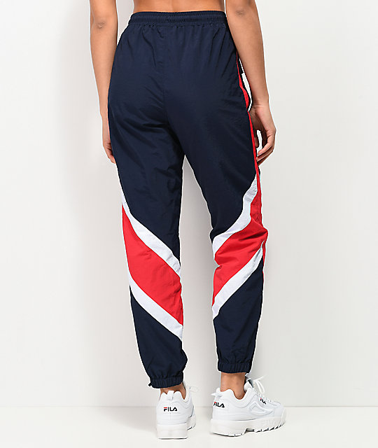 FILA Esme Navy & Red Track Pants
