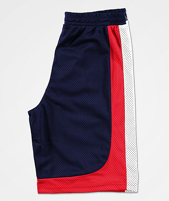 FILA Everly Navy, Red & White Basketball Shorts