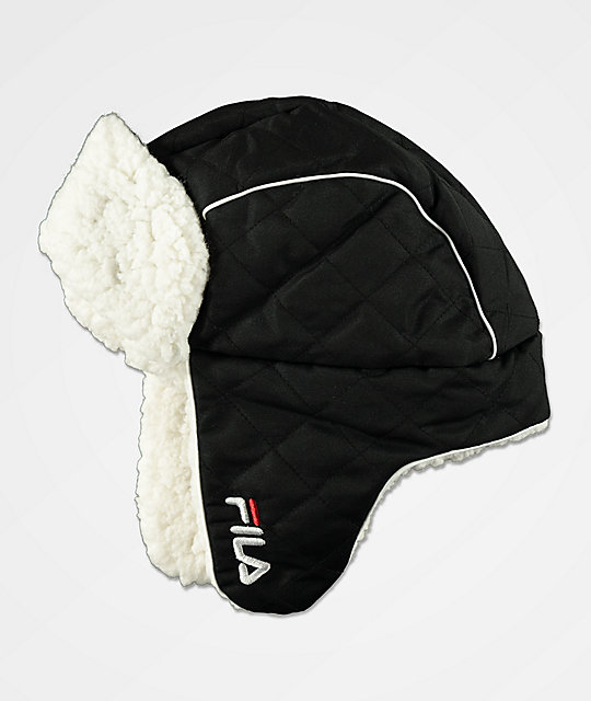7929fb4d423c1 FILA Heritage Black Trapper Hat