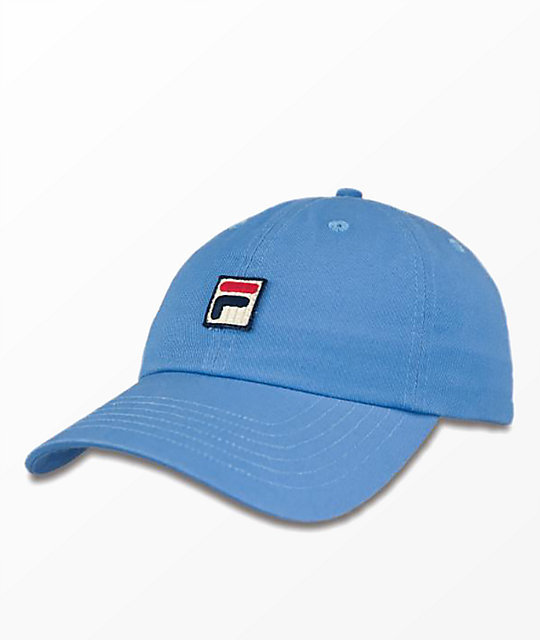 8784387f FILA Heritage Light Blue Strapback Hat   Zumiez.ca
